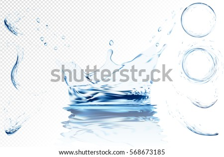 transparent water wave with