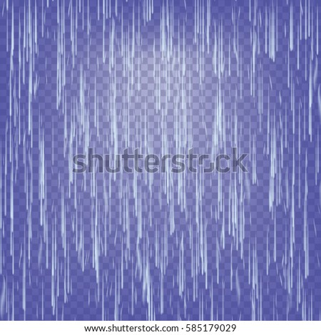 transparent waterfall vector