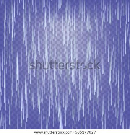 transparent waterfall vector