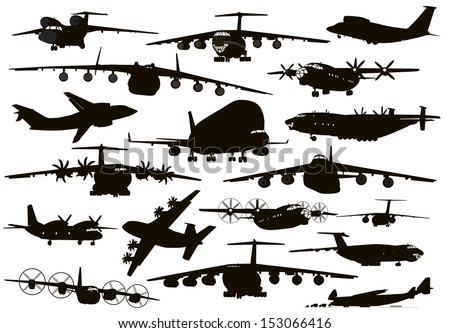 transport aircraft silhouettes
