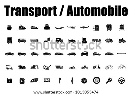 Transport and Automobile icons