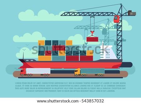 transport cargo sea ship