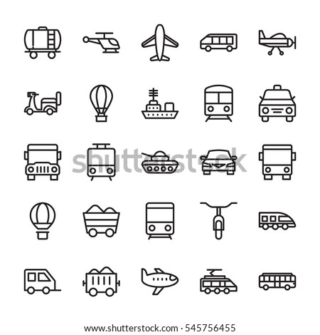 Transport Colored Vector Icons 1