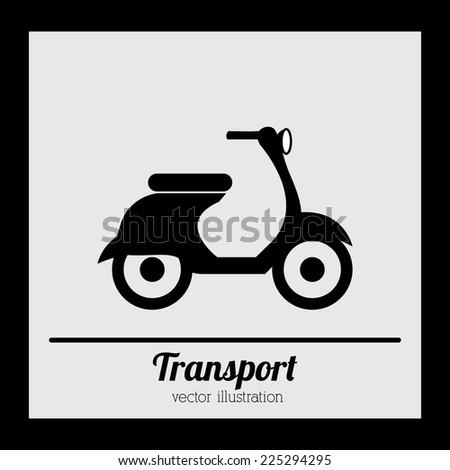 Transport design over black background, vector illustration