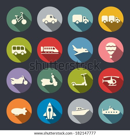 Transport icon set
