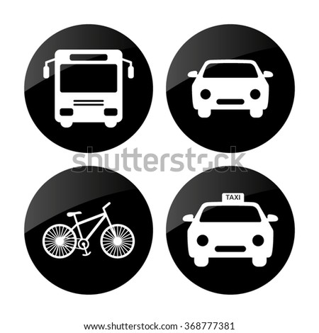 transport  icon; set