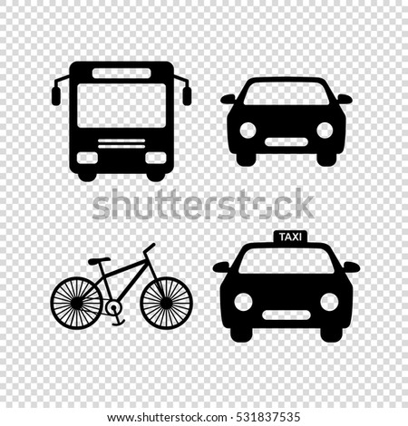 transport  icon; set