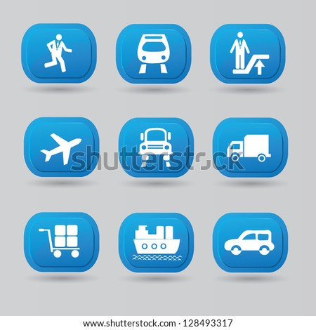 Transport icon set,vector
