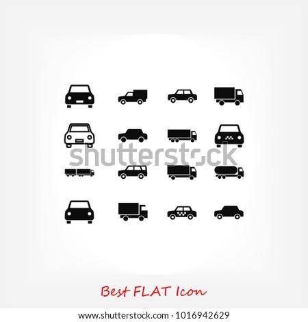 transport icon, stock vector illustration flat design style