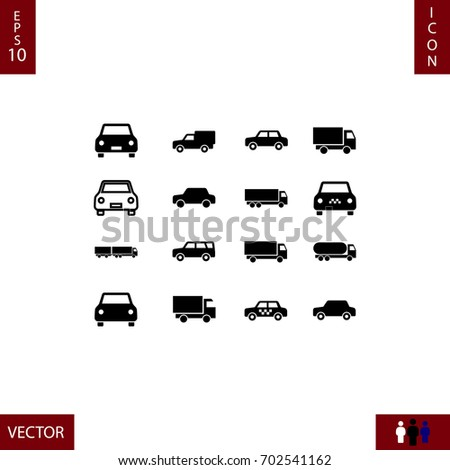 transport icon, stock vector illustration flat design style
