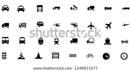 Transport icon vector collection. Vector illustration.