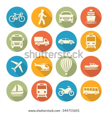 Transport icons - Shutterstock ID 344755601