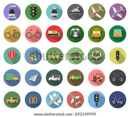 Transport icons - Shutterstock ID 692149990