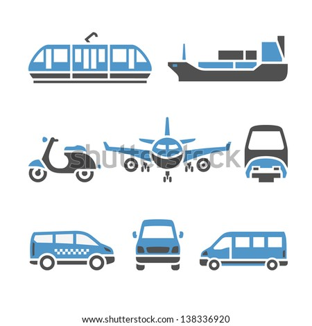 transport icons   a set of