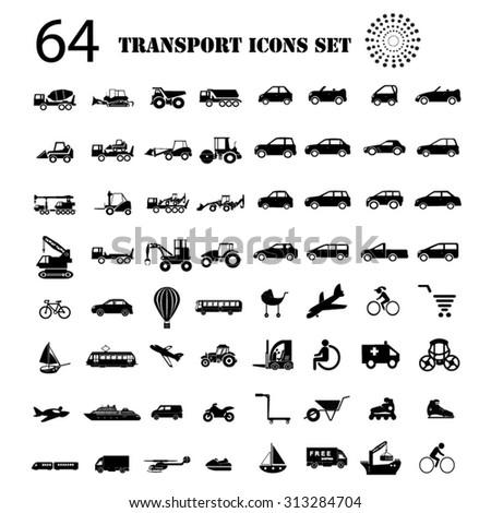 Transport icons big set illustration