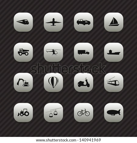 Transport icons / buttons set