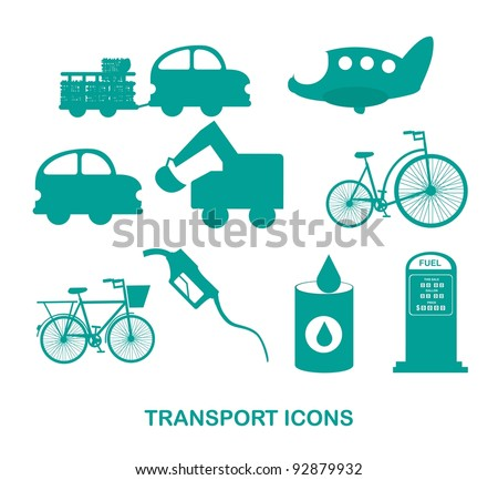 transport icons over white background vector illustration