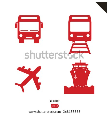 transport icons set. Transportation Icon