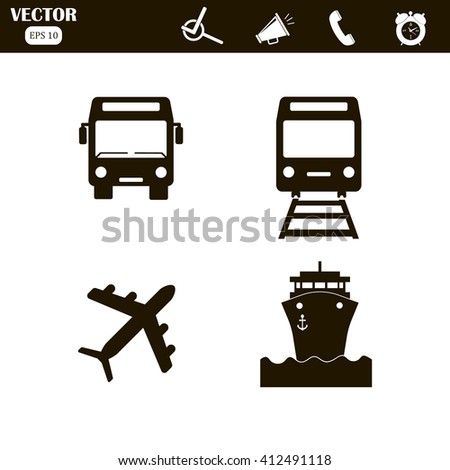 Transport icons set, Transportation Icon