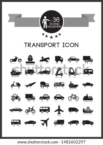 Transport icons set. Vector set.