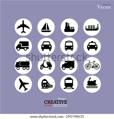 Transport icons. Transportation. Logistics icon. vector illustration.
