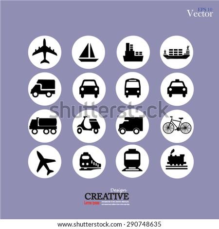 Transport icons. Transportation. Logistics icon. vector illustration.