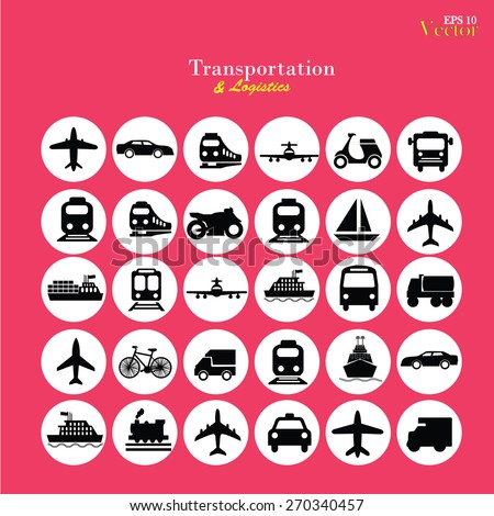 Transport icons,transportation vector illustration,logistics,logistic icon vector