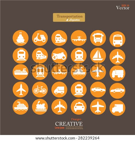 Transport icons,transportation vector illustration,logistics,logistic icon vector