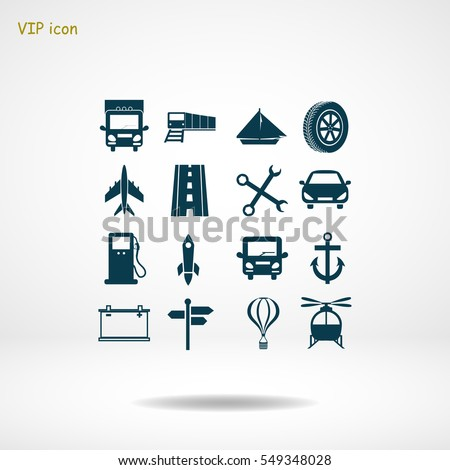 Transport icons, vector best flat icon, EPS
