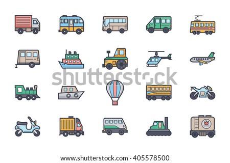 transport illustration icons 1