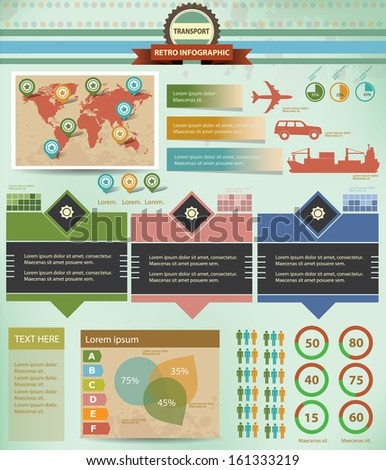 transport infographics graphics