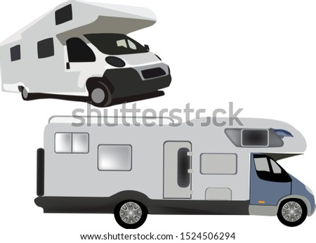 transport of camper van for leisure time