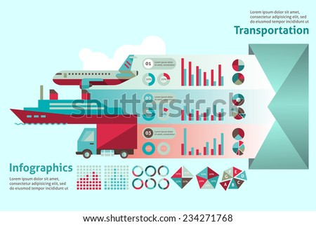 transport paper infographic set