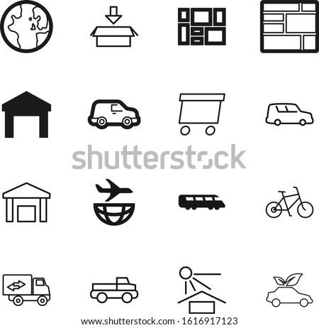 transport vector icon set such