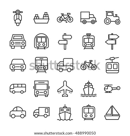 Transport Vector Icons 3