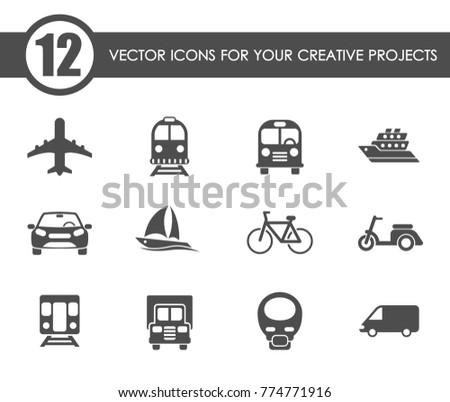 transport vector icons for your creative ideas