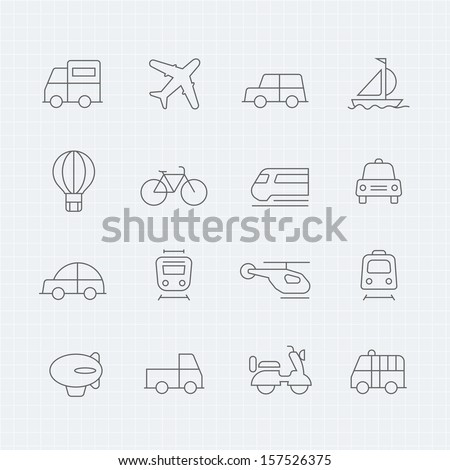 transport vector thin line symbol icon