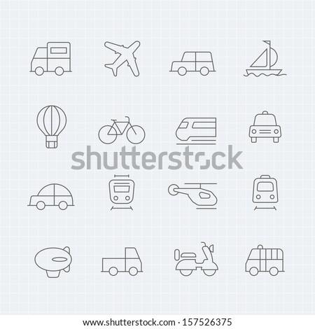 transport vector thin line symbol icon