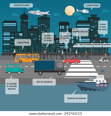 transportation and city traffic