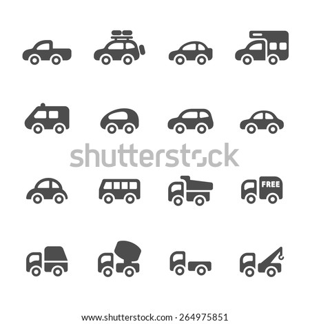 transportation and vehicle icon