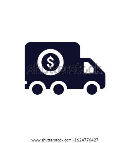 Transportation costs, transportation, truck icon. Vector illustration Stock foto ©