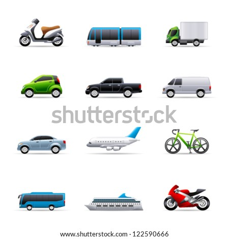 transportation icon series in