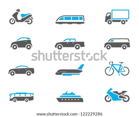 Transportation icon series in duo tone color style
