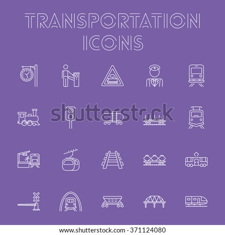 Transportation icon set.