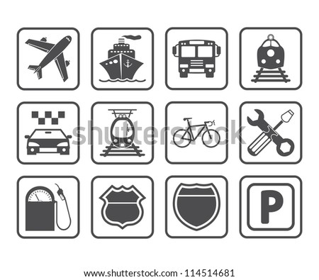 Transportation icon. Vector illustration.