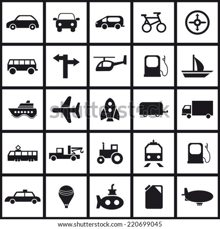 Transportation icons set.