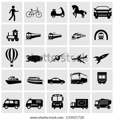 Transportation Icons set Eegant series.