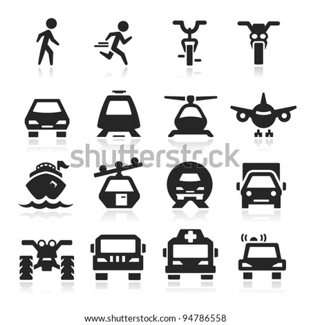 Transportation Icons set Eegant series