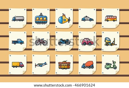 Transportation icons set,eps10