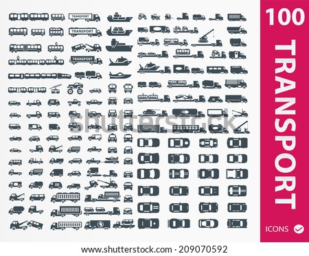 Transportation icons ( set of 100 icon )